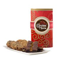 Red Tall Gift Tin - Assorted Cookie and Brownie Options