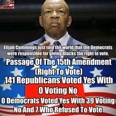 "Shouldn't a senator KNOW the facts? Or is he following his ""leaders"" and making them up? SHAME On YOU Elijah Cummings."