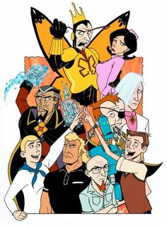 The Venture Brothers - The bizarre animated escapades of pseudo-heroic scientist Dr. Rusty Venture, his competent, high strung bodyguard, and his two over-enthusiastic sons.