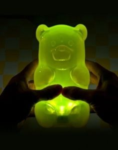 ► Gummy Bear Night Light - press the belly to turn on/off LOVE