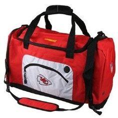 Kansas City Chiefs Roadblock Style Red Duffel Bag