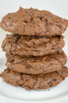 Brownie Cookies....Rich, Delicious, Decadent Chocolate Cookies, Brownie Cookies, Cupcake Cookies, Cookie Bars, Bar Cookies, Cookie Desserts, Just Desserts, Cookie Recipes, Baking Recipes