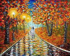 Autumn Beauty Original Palette Knife Painting Poster By Georgeta  Blanaru