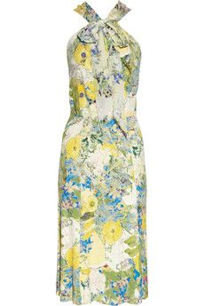Erdem ROMILY PRINTED STRETCH-JERSEY DRESS UK 6	 GBP450.00