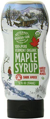 Butternut Mountain Farm 100% Pure Vermont Organic Maple Syrup, 12 Ounce - http://goodvibeorganics.com/butternut-mountain-farm-100-pure-vermont-organic-maple-syrup-12-ounce/