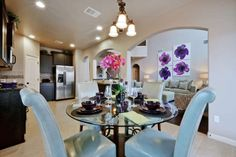 Breakfast Area in the Saratoga Homes, Round Rock Tx, Model Homes, Mirror, Single Family, Building, Interior, Houses, Content