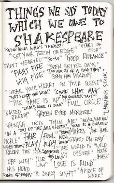 we owe it all to Shakespeare