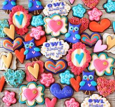 OWL always love you! Decorated Valentine's Day Cookies Tutorial