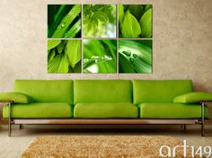 Soczysta zieleń znakomicie sprawdzi się w nowoczesnym wnętrzu. Zapraszamy do galerii http://pl.art149.com/