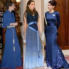 """royal-roaster: """"Beautiful in Blue """" - Queen Rania Al Abdullah of Jordan Royal Queen, Royal Princess, Queen Fashion, Royal Fashion, Modest Fashion, Fashion Outfits, Princess Letizia, Estilo Real, Queen Rania"""