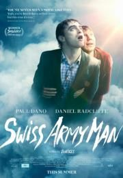 Swiss Army Man - Directed by Dan Kwan, Daniel Scheinert. With Paul Dano, Daniel Radcliffe, Mary Elizabeth Winstead, Antonia Ribero. A hopeless man stranded on a deserted island befriends a dead body and together they go on a surreal journey to get home. Good Movies On Netflix, Man Movies, Movies To Watch, Movies Online, I Movie, 2016 Movies, Paul Dano, Daniel Radcliffe, Mary Elizabeth Winstead