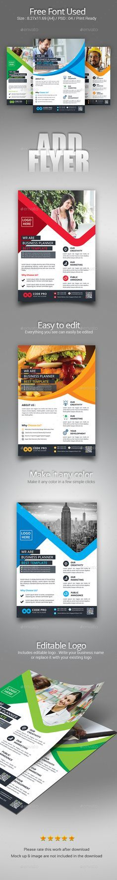 Clean \ Modern Corporate Flyer Template Them, Technology and Offices - web flyer template