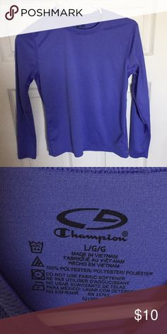 Champion Thermal Top Perfect condition, never worn. Crewneck style, blue/purple color. Perfect layering shirt. Champion Shirts & Tops Tees - Long Sleeve