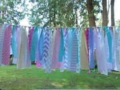 Fabric Garland-Pastel Mix by FabricWorksByLauraL on Etsy