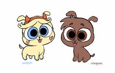 Star and Marco as lazer puppies