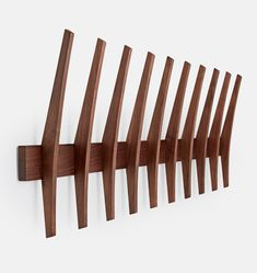 Art/wall Decor - With a unique fin-inspired shape created by a local Portland, Oregon designer, this versatile hook rack offers a sophisticated spot to hang your coats and . Simple Furniture, Entryway Furniture, Furniture Plans, Furniture Decor, Furniture Design, Furniture Cleaning, Furniture Removal, Furniture Stores, Kitchen Furniture