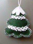 39 Brilliant Ideas How To Use Felt Ornaments For Christmas Tree Decoration 28