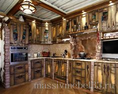 Мебель на заказ в Москве из сосны,дуба:Кухни под старину недорого в Москве