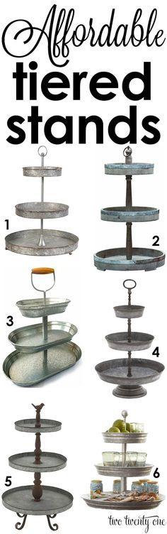 Love these tiered stands! Perfect for any home!