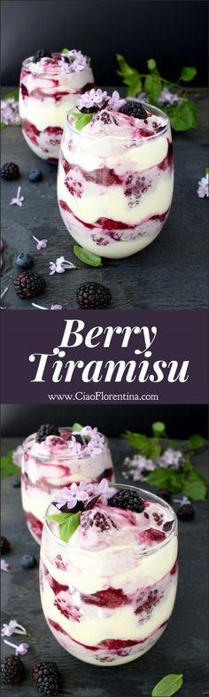 Berry Tiramisu Trifle Recipe | CiaoFlorentina.com @CiaoFlorentina
