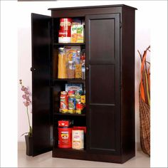 Kitchen Diy Freestanding Pantry With Freestanding Pantry Target Within Free  Standing Kitchen Pantry Ideas 35+