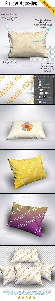 Pillow Mock-Ups   http://graphicriver.net/item/pillow-mockups/8435097?ref=damiamio         	 Features   4000×3000px  Unlimited c