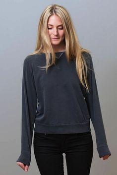 Octavia Vintage Sweatshirt in Charcoal