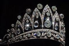 Empress Josephine Tiara. This diamond tiara was created by Faberg c. 1890.