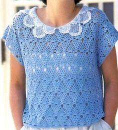 crochet blouse pattern free - Google Search