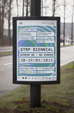 Visual identity and poster by Raw Color for Dutch art, technology and experimental pop culture festival STRP 2015.