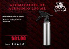 Atomizador profesional con botella de aluminio Durable y esterilizable