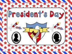 President's Day - Kindergarten - CUTE!
