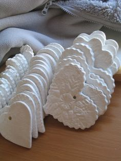 air dry salt dough ornaments. new tutorial at sundaysnotes.blogspot.com