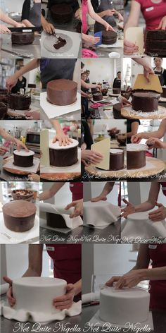 Not Quite Nigella's class with Faye Cahill Step by step ganache and fondant covered cake