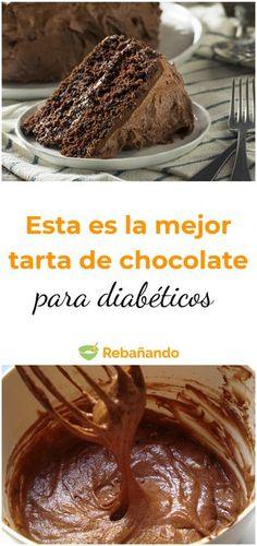Diabetic Cake, Diabetic Recipes, Healthy Recipes, Healthy Desserts, Healthy Cooking, No Sugar Foods, Vegan Cake, Sin Gluten, Food Videos