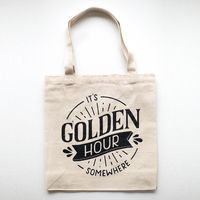 Golden Hour Canvas Tote Bag
