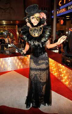 Lady Gaga's 2009 MTV VMA's look is very Phantom of the Opera inspired, but it doesn't have us singing praises.