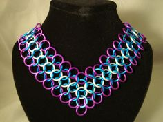 Chainmail Euro 41 Choker Collar with Ribbon Ties by CnTStretchys, $40.00