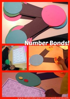 Using number bonds to teach students how to decompose numbers!