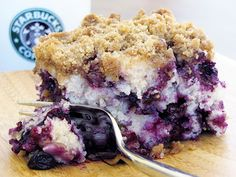 Blueberry crumble cake, making this right now.