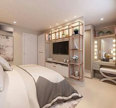 Pin by kajal gaba on interior ideas Room Design Bedroom, Room Ideas Bedroom, Home Room Design, Small Room Bedroom, Home Decor Bedroom, Home Interior Design, Bedroom With Tv, Interior Ideas, Stylish Bedroom