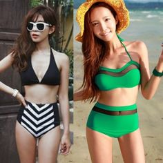 2014new high waist swimsuit  high waisted bathing suits swimsuits for women push up bikini women swimwear #WAP70 US $11.90 - 13.90