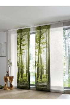 Why Living Room Curtain Styles Are Important to Your House - Life ideas Panel Blinds, Drapes And Blinds, Green Curtains, Curtains Living, Living Room Flooring, Drapes Curtains, Living Room Decor, Sliding Curtains, Sliding Panels