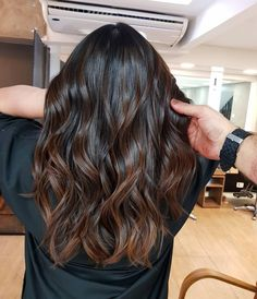 67 brown hair colors ideas for winter 2019 page- 3 lifestylesinspira… - Hair Color Brown Hair Shades, Brown Ombre Hair, Light Brown Hair, Ombre Hair Color, Hair Color Balayage, Brown Hair Colors, Hair Highlights, Dark Fall Hair Colors, Balayage Dark Brown Hair