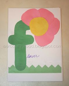 letter f craft - F is for Flower Letter F Craft, Preschool Letter Crafts, Alphabet Letter Crafts, Abc Crafts, Classroom Crafts, Alphabet Activities, Preschool Activities, Letter Art, Letter Games