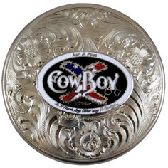 COWBOY XTREME GERMAN SILVER TOBACCO DIP CHEW SNUFF CAN LID | All Fired Up $29.99