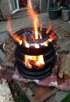 18 Wheeler Rim Fire Pit Marc S Projects In 2019 Rim