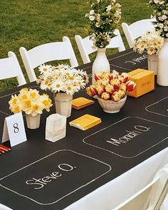 Hudson Valley Weddings - 10 Creative Chalkboard Ideas for Weddings - chalkboard wedding placemats