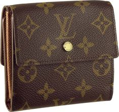 Louis Vuitton Monogram Canvas Elise #112222-Ithas two separate compartments forcard and cashwith a flap and press stud closure.