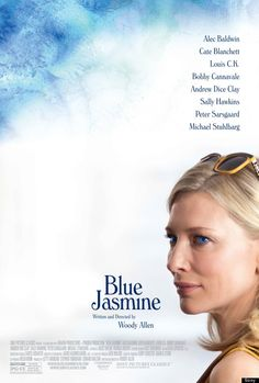 """Details about Woody Allen's latest film, """"Blue Jasmine,"""" may be hard to come by, but we've got something that will give fans of the director something to ponder for a while: the official poster (below), featuring a strikingly pensive Cate Blanchett."""